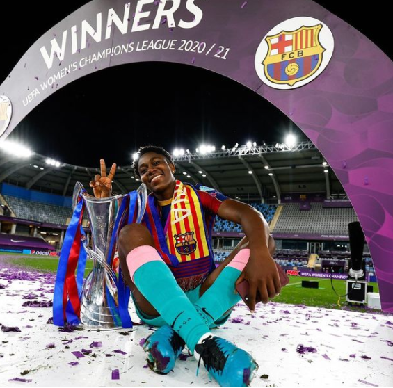 oshoala makes historical past as barcelona wins uefa girls's champions league for the first time Oshoala Makes Historical past As Barcelona Wins UEFA Girls's Champions League For The First Time asisat oshoala wins champions league with barcelona