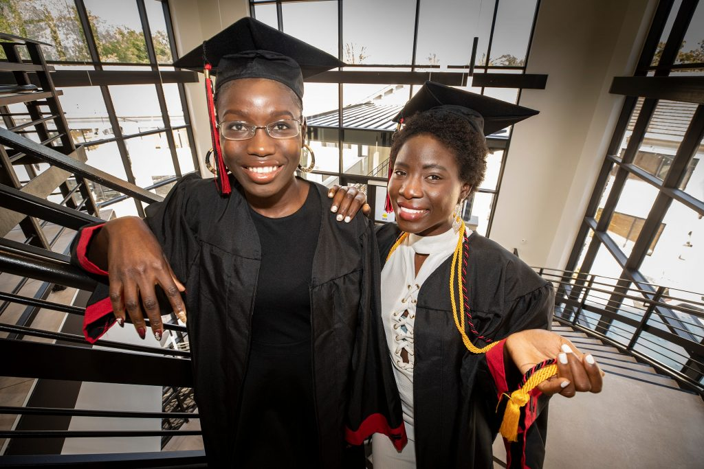 cousins who escaped boko haram chibok kidnapping in 2014 graduate from us college Cousins Who Escaped Boko Haram Chibok Kidnapping in 2014 Graduate From US College chibok girls graduate from us university 1024x683