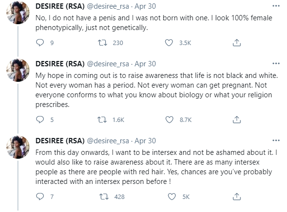 south african lady reveals she is an intersex lady South African Lady Reveals She Is An Intersex Lady intersex woman 2