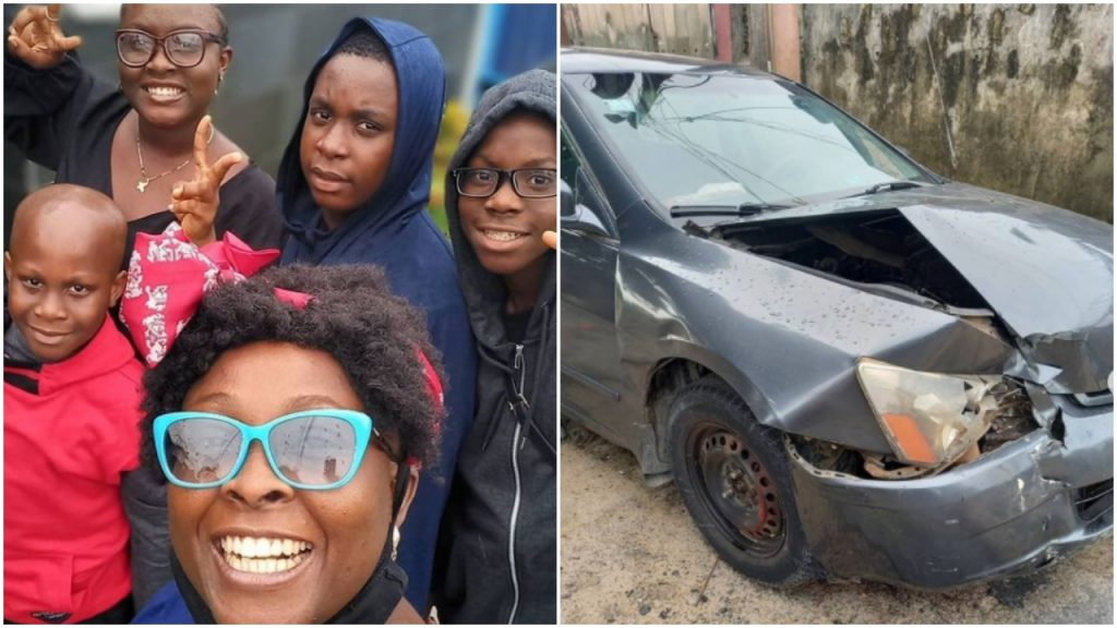 'Nothing Damaged, Nothing Lacking' – OAP Lolo Is Grateful As She & Youngsters Survive Ghastly Accident 'Nothing Damaged, Nothing Lacking' – OAP Lolo Is Grateful As She & Youngsters Survive Ghastly Accident lolo children accident 1024x576
