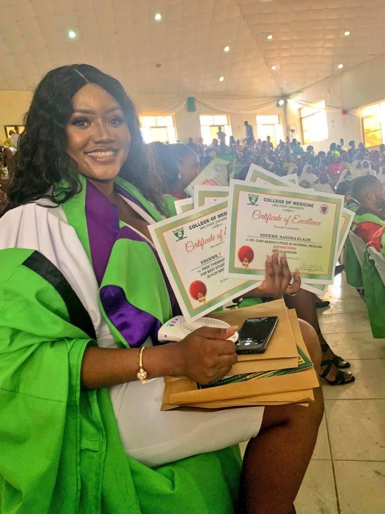 nigerian lady bags 7 awards as she graduates with distinction in medicine Nigerian Lady Bags 7 Awards As She Graduates With Distinction In Medicine nigerian doctor bags seven awards 768x1024
