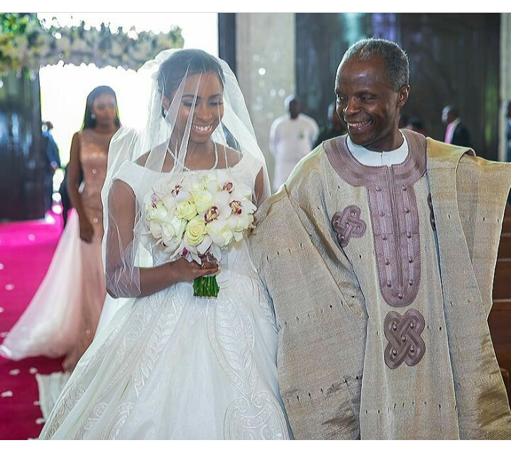 father walking the bride down the aisle tradition: nigerian author shares thoughts on the need to change status quo Father Walking The Bride Down the Aisle Tradition: Nigerian Author Shares Thoughts On The Need To Change Status Quo osinbajo walks daughter down the aisle